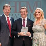 Ronan Daly receiving the Awards at the HFM Week Awards 2012