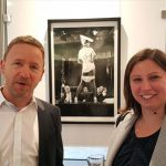 Centaur clients at Charity exhibition of works from photographer Terry O'Neill