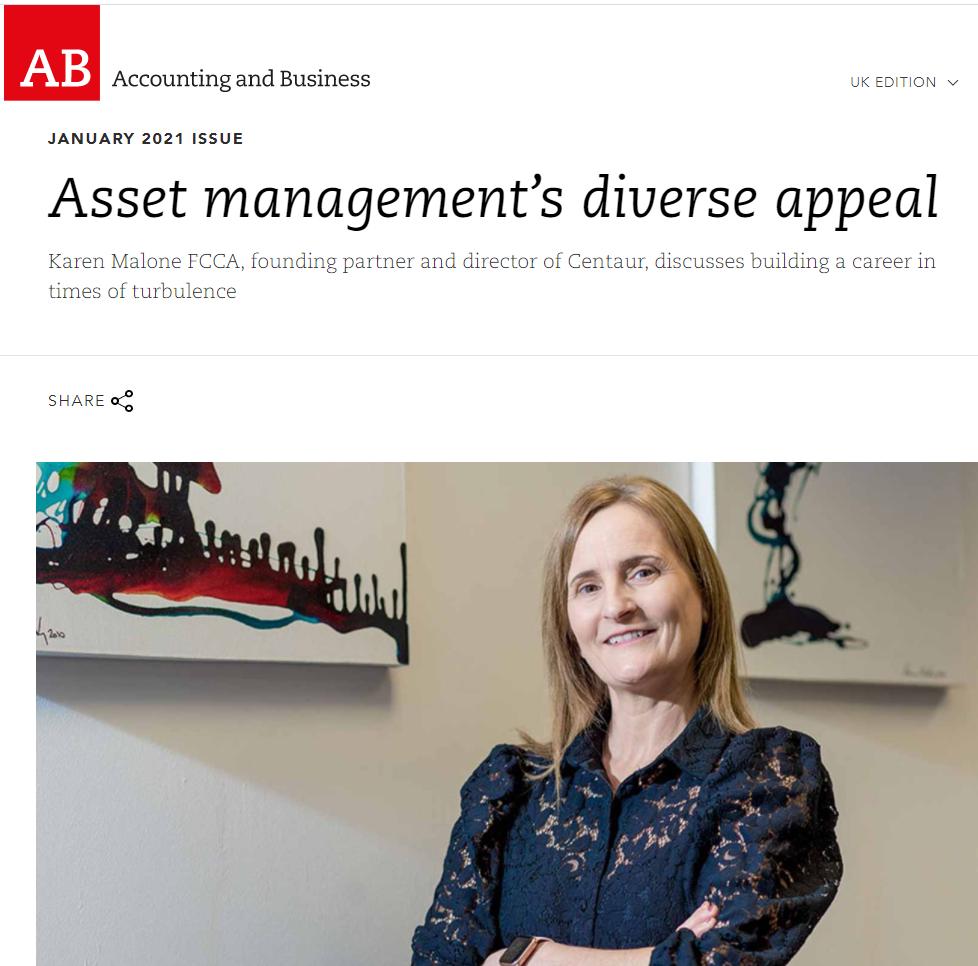 AB magazine - Karen Malone